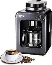 TM Electron Mini-koffiezetapparaat met koffiemolen, 4 kopjes, voor koffiebonen, 600 W, wasbaar filter grafietgrijs