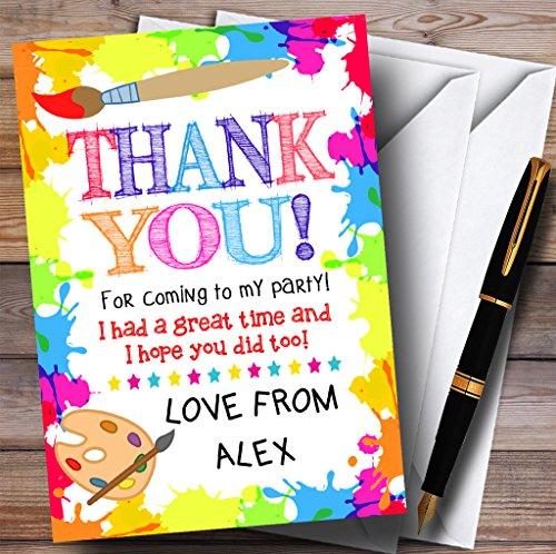 Party Thank You Cards Crafts kunst schilderij partij met enveloppen - elke aangepaste tekst voor elke gelegenheid 100 Cards & Envelopes
