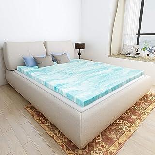 Mattress Topper Queen, Gel Memory Foam Mattress Toppers for Queen Size Bed, 2 Inch