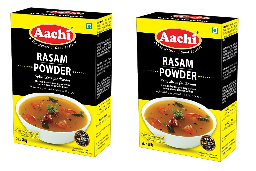 AACHI Rasam Powder 200 GMS -TWIN OF Max Ranking TOP13 57% OFF X - PACK 2