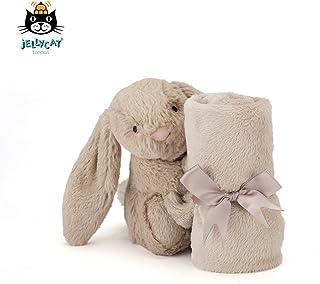 Jellycat 邦尼兔 英国 婴儿软毛毯害羞邦尼兔安抚巾 米色33cm