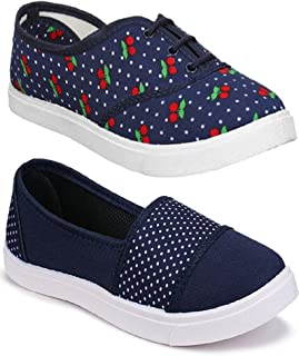 Shoefly Women Multicolour Latest Collection Sneakers Shoes- Pack of 2 (Combo-(2)-11031-763)