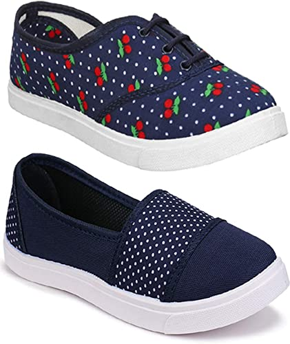 Women Multicolour Latest Collection Sneakers Shoes Pack of 2 Combo 2 11031 763