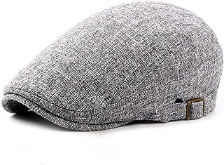 Casual Berets Unisex Durable Comfort Sunshde Adjustable Linen Duckbill Hats (Color : Gray, Size : One Size(Adjustable))