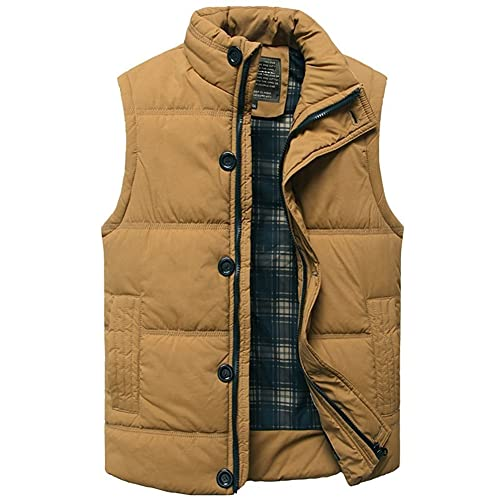 Mens Quilted Padded Lined Gilet Outdoor Sleeveless Coat Bodywarmer Military Jacket  Gilets