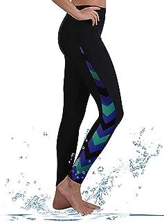 GEEK LIGHTING Womens UPF 50+ Surfing Skins Leggings Wetsuit Swim Long Pants
