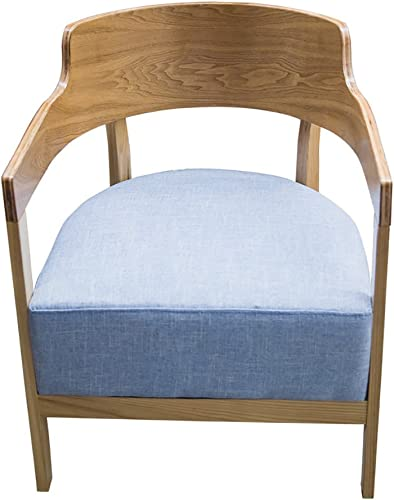 MENA Uk Moderner h erner Lehnsessel-Weißes Schwamm-Kissen für langfristigen Gebrauch ohne Verformungs-Esszimmer-Sofa (Farbe   Blau, Größe   H75cm)
