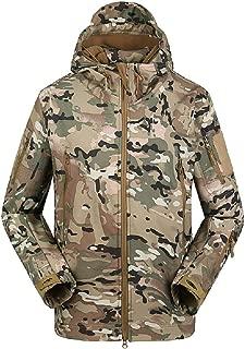 Da Uomo Militare Camoflage Impermeabile Con Cappuccio Leggero PVC Pioggia All/'aperto Giacca