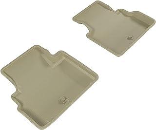 3D MAXpider Second Row Custom Fit All-Weather Floor Mat for Select Infiniti Q60 Models - Kagu Rubber (Tan)