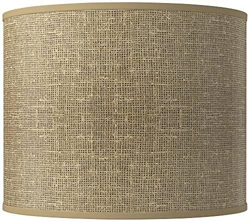 Burlap Print Giclee Round Drum Lamp Shade 14x14x11 (Spider) - Giclee Glow