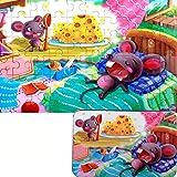 Rompecabezas de madera para niños a partir de 3 años, rompecabezas educativos para desarrollar destreza y resolver problemas con una caja de almacenamiento (rata) 60 piezas de juego