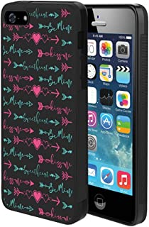 SITUOLI Red Heart and Green Arrow iPhone 5 iPhone 5S iPhone SE Case Shock-Absorbing Cover Compatible with iPhone 5 iPhone 5S iPhone SE Red Heart and Green Arrow Pattern