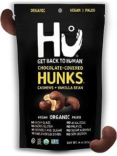 Hu Hunks Vegan Chocolate Covered Cashews and Vanilla Bean | 6 Pack | Non-GMO, Gluten Free, Paleo, Organic Dark Chocolate