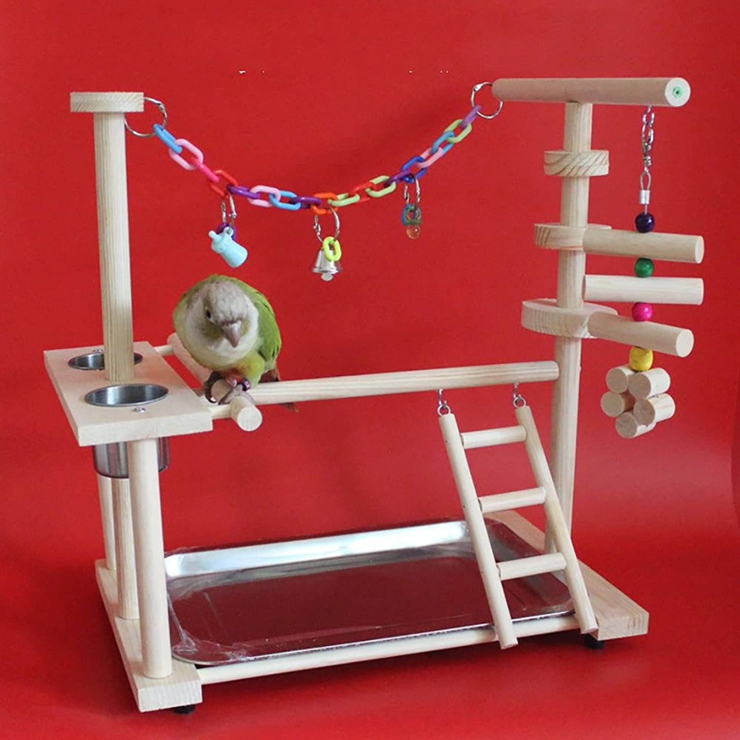 Myyxt Bird Parred Toys Wooden Ladder Swing Stand Up The Stairs