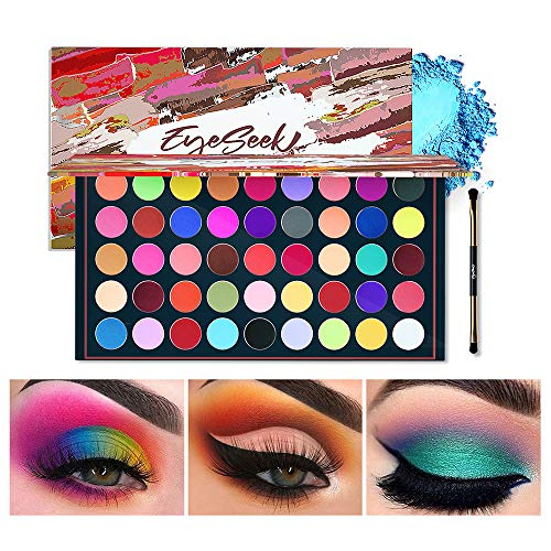 EYESEEK Matte Eyeshadow Palette 45 Shades Colorful Eyeshadow Pallet High Pigmented No Shimmer All Matte Smooth Powder Eye shadow Blendable Long Lasting Waterproof Makeup Palette #Neon