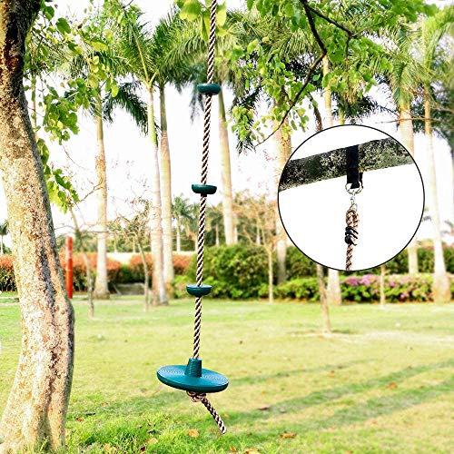 fly away Columpios para niños, cinturones de escalada de disco grandes y grandes, accesorios para patio de juegos con plataforma y kit de asiento de columpio de disco