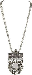 Tiaraz Crystal Nickel Silver Pendant Necklace for Women's