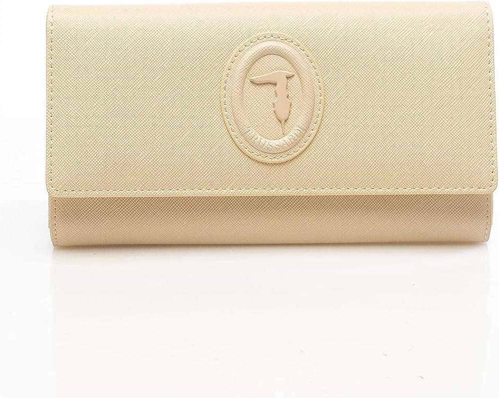 Trussardi portafoglio continental dahlia in similpelle porta carte di credito per donna