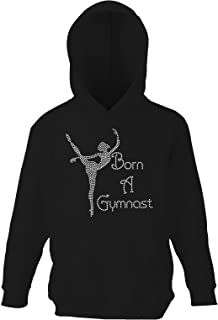 Girl 's Crystallized Born a Gymnast体操パーカーダンスKids Hoody Varsany