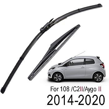 Peugeot 108 Front Windscreen Wiper Blade Set 2014-Onwards *BOSCH AEROTWIN*