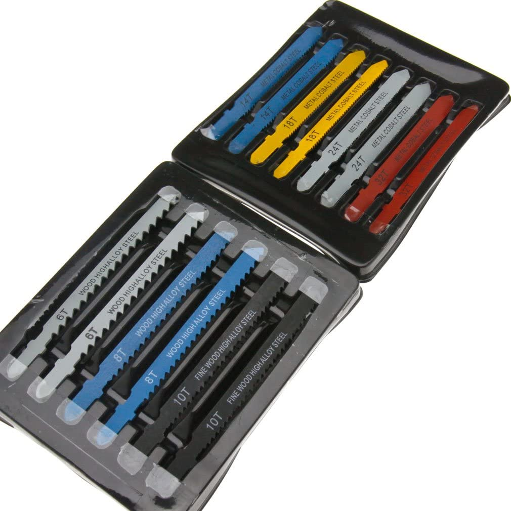 Compatible with T-Shank Ranking TOP11 Jigsaw Blade 14Pcs Recommended Kit 8 14 24 18 6 3 10