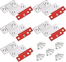 YUOIP® 5 Pack Ultra dunne sterke magnetische vangsten roestvrij stalen kast magnetische deur vangst voor kabinet plicht ma...