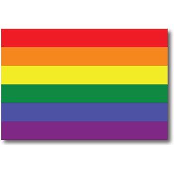 LGBT Waterproof Lesbian Gay Bisexual Transexual Magnet Me Up Gay Pride Rainbow Flag Car Magnet Decal 4x6