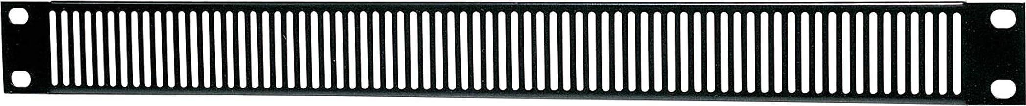 """Generic 1U Vented Black Steel 19"""" Rack Panel"""