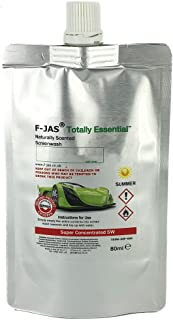 Naturally Scented Windshield Washer Fluid (2.7 Fl oz Pouch Summer Super Concentrated, Star Anise)