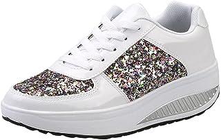 comprar comparacion Zapatillas de deporte de mujer, Covermason Ladies Sequins Shake Sneakers
