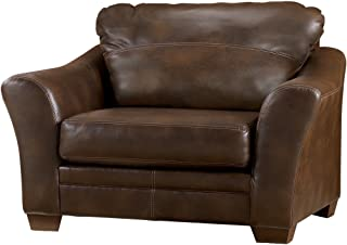 Signature Design by Ashley - Sedona Faux Leather Chair and a Half, Brown