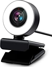 Webcam 1080P with Ring Light, Vitade 960A USB HD PC Web Camera Video Face Cam for Streaming Gaming Conferencing Mac Window...
