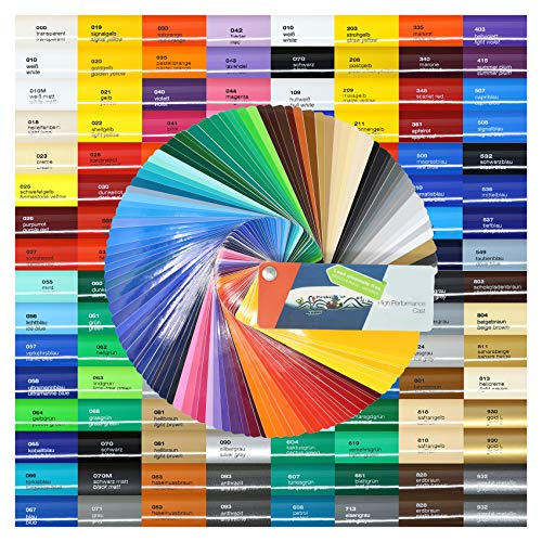 Finest Folia (8,05€/m²) 5m High Performance Cast 751 C 500 cm Plotterfolie Autofolie Gegossene Folie (010 weiß, 31cm)