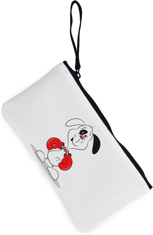 AORRUAM Boxing dog Canvas Coin Purse,Canvas Zipper Pencil Cases,Canvas Change Purse Pouch Mini Wallet Coin Bag