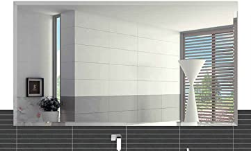 Fab Glass and Mirror Rectangle Frameless Wall Mirror, 24