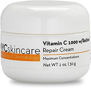 Vitamin C w/Retinol 1,000 Cream for Face | w/Jojoba Oil, Squalane & Antioxidants | Professional Quality | May Help Smooth ...