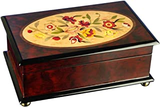 The San Francisco Music Box Company Classic Floral Musical Wooden Jewelry Box