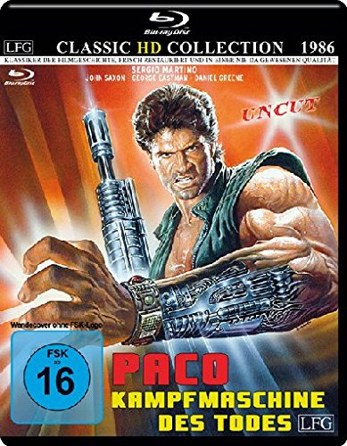 Paco - Kampfmaschine des Todes - Uncut - Classic HD Collection # 10 (mit Wendecover) [Blu-ray]