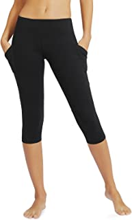 "Baleaf Women's and Girl's Yoga Workout Capris Leggings Side Pocket for 5.5"" Mobile Phone"