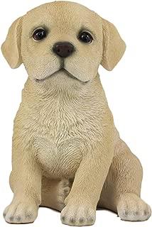 Ebros Realistic Sitting Adorable Labrador Puppy Statue 6.75