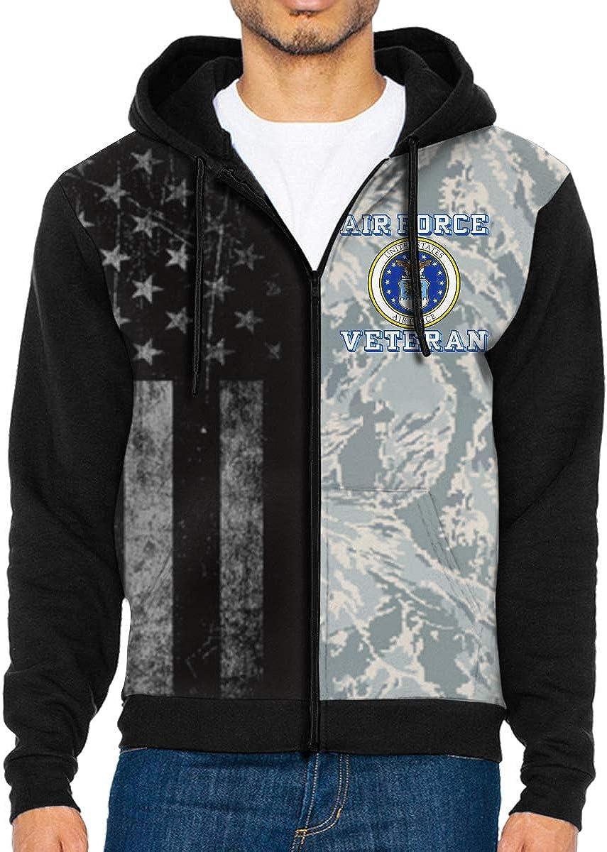 ZHIJIJACKET Max 64% OFF US Air Force Low price Veteran Sweatshir Men's Hooded Zip Full