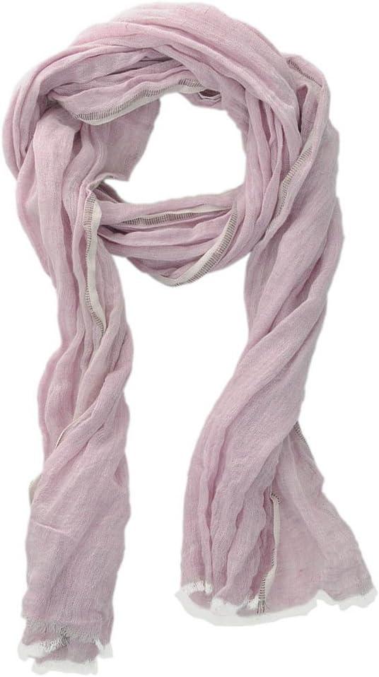 HINZE (SH108) Bufanda elegante de lino, color: rosa con hilos de lurex, tamaño: 50 x 180 cm, bufanda lujosa, unisex, para invierno y verano