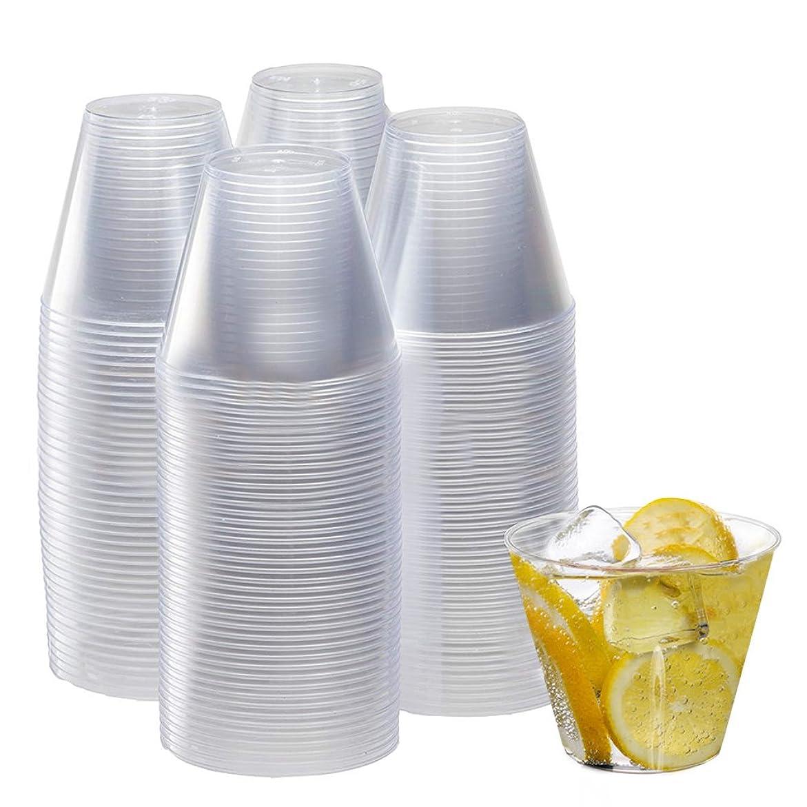 受付雇う受粉するLEKING 200Ml 硬質 プラスチックカップ 透明 フードカップ デザートカップ サラダカップ キャンプ用 パーティー 試飲用