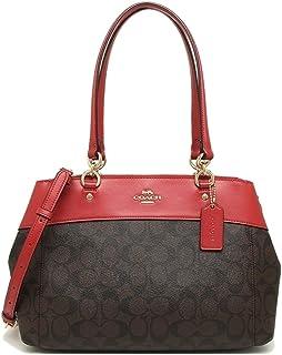 552e60e501 Coach Brooke Signature Carryall Cross-Body Bag Satchel Handbag - BROWN TRUE  RED