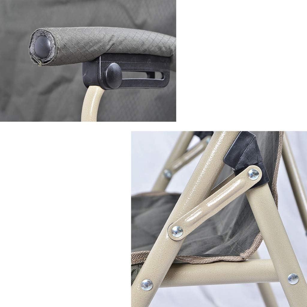 Chaise Longues Chaises De Camping Pliant Compact Heavy Duty Haut Du Dos Portable La Pêche Plage Siège, 3 Couleurs (Color : Green) Blue