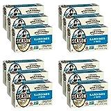 Season Sardines in Water | Gluten Free, Keto, Paleo, Non-GMO, Omega-3 Fatty Acids, Sugar Free, Salt Added | Certified Wild Caught & Sustainable Fresh Fish | 4.375 oz (Pack of 12)
