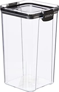 Sistema Ultra Square Food Container, 1.3L, Black