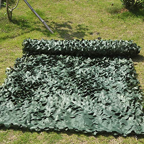 QIANGDA Camouflage Net Camo Netting Woodland Military Hunting Shooting Sunscreen Nets For Dens Hide Bedroom, Green, Custom Sizes (Size : 1.5x4m)
