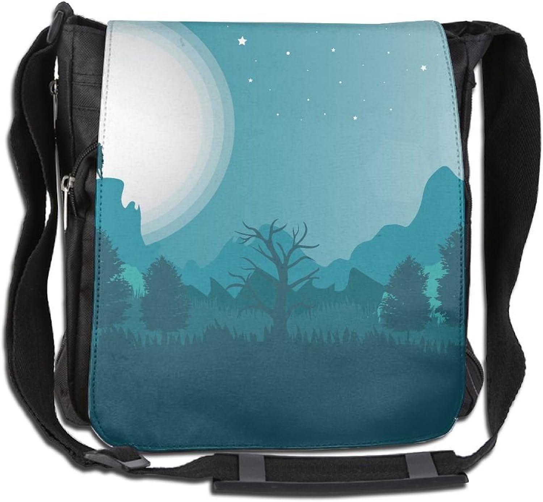 Landscape Wolf Convenient Unisex Shoulder Handbag