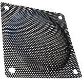 Aerzetix: 2 x Schwarz Schutzgitter Lüftungsgitter 80x80mm Ventilation für Lüfter Gehäuse Computer PC C15148